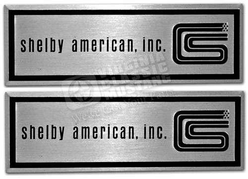 1966 Shelby American Inc Step Plate Labels