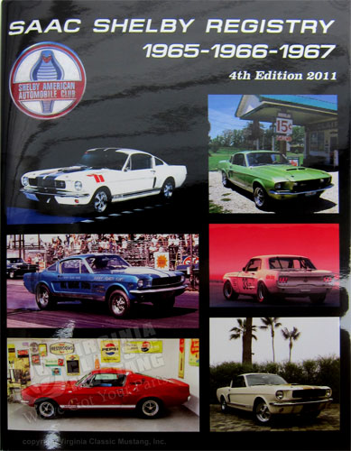 SAAC Shelby Registry – 1965 1966 1967 – 4th Edition – 2011